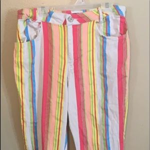 Colorful rainbow skinny jeans